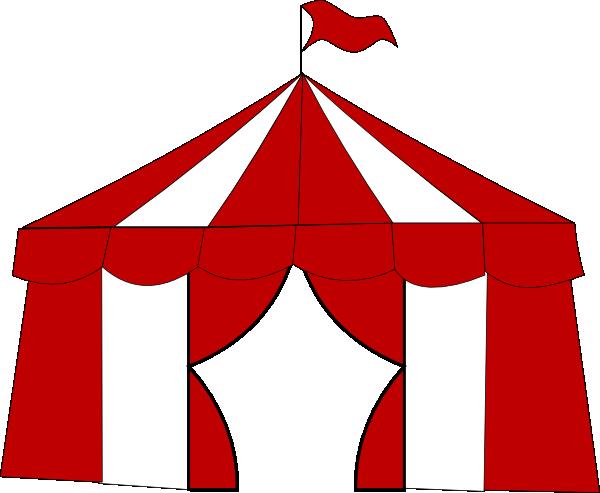 Red Circus Tent 2 Clip Art At Clker Com Vector Clip Art