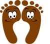 Brown Happy Feet Clip Art
