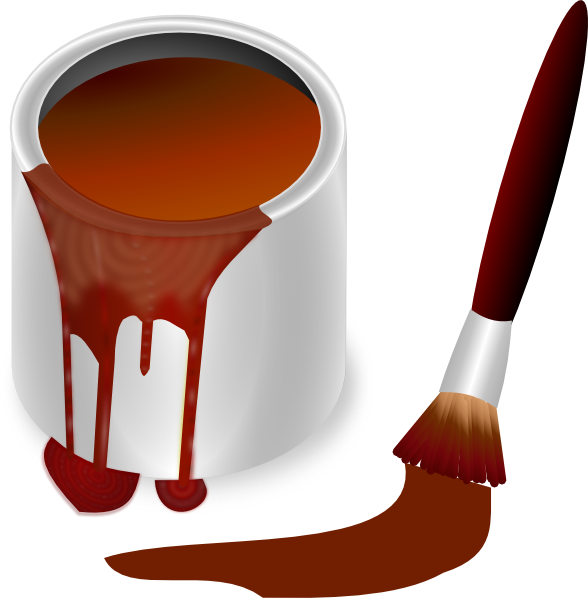 brown paint with paint brush clip art at clker com Paintbrush Clip Art Black and White Pancake Clip Art Black and White