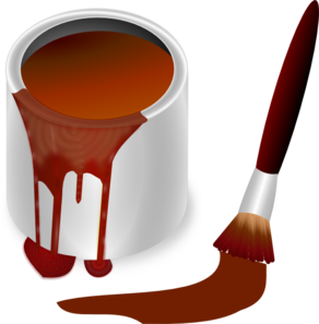 Brown Paint With Paint Brush Clip Art