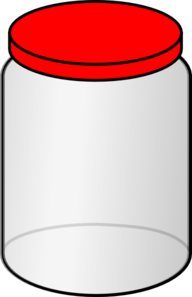 Jar With Red Lid Clip Art
