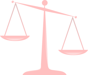 Transparent Scales Of Justice Clip Art