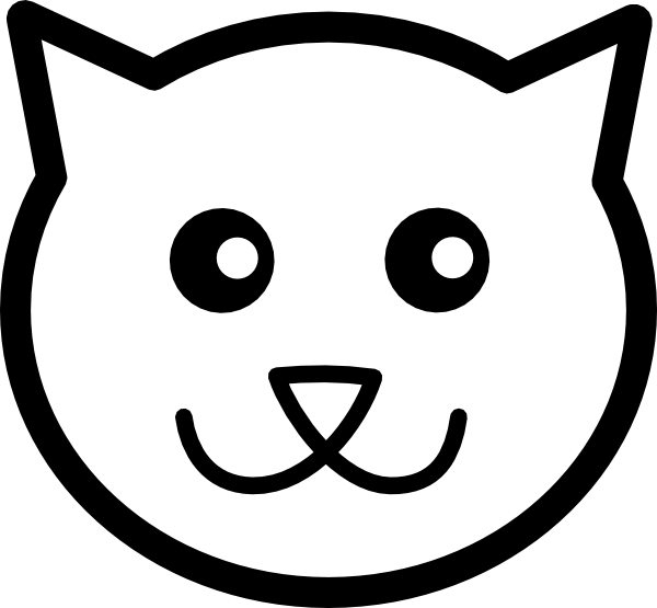 Line Drawing Cat Face : Cat line art clip at clker vector