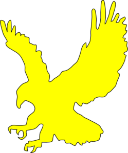 Yellow Flying Eagle Clip Art