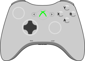 Xbox Controller Current Clip Art