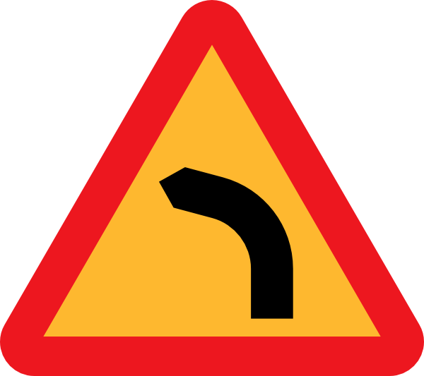 Dangerous Bend, Bend To Left Clip Art at Clker.com ...