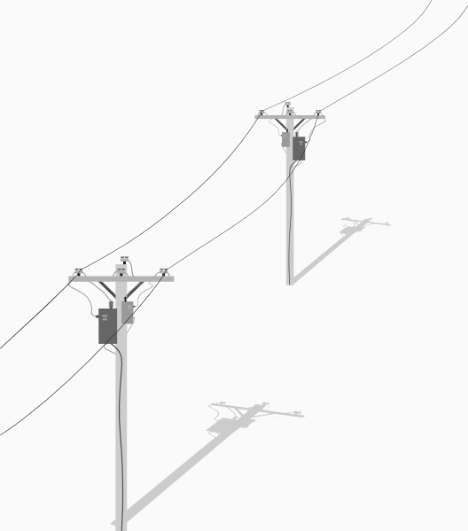 Two Telephone - Utility Poles With Wires Clip Art at Clker.com ...