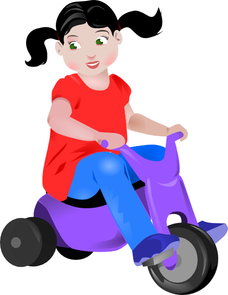 Toddler On Trike Clip Art at Clker.com - vector clip art online ...