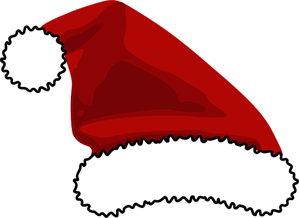 Hat picture santa claus hat clipart father christmas hat graphic 1