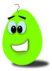 Lime Comic Egg Clip Art