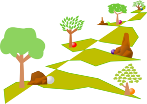 Journey Through Landscape Clip Art