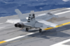 An F/a-18 Hornet From The Salty Dogs Of Air Test And Evaluation Squadron Two Three (vx-23), Makes The First Trap. Clip Art