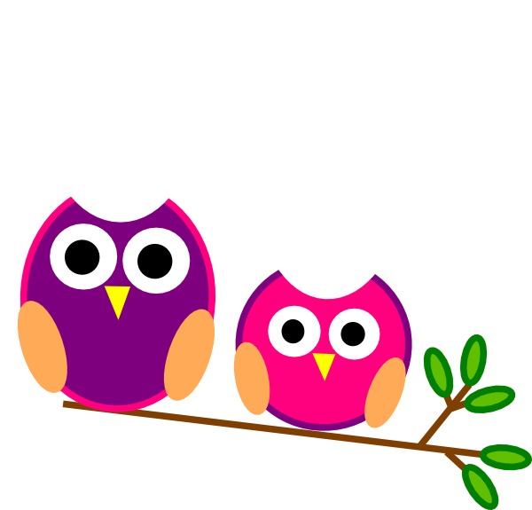 Cute Pink And Purple Owls clip artCute Owl Clip Art