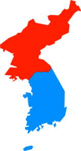 North & South Korea Map Clip Art