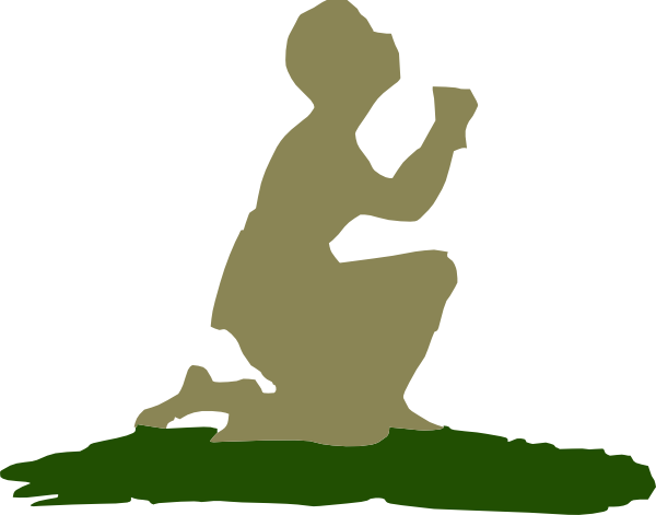 Kneeling Praying God Clip Art