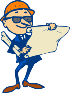 Engineer With Plans Clip Art