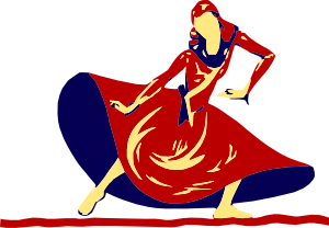 Lady Dancing In Festival Clip Art