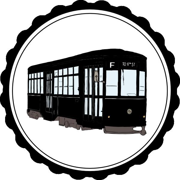 Streetcar Clip A...Free Clip Art Trolley Car