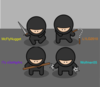 Pack Of Ninjas Clip Art