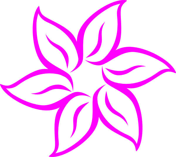 hot pink flower clip art at clker  vector clip art online, Natural flower
