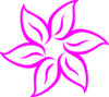 Hot Pink Flower Clip Art