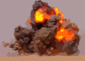 Eod Teams Detonate Expired Ordnance In The Kuwaiti Desert. Clip Art