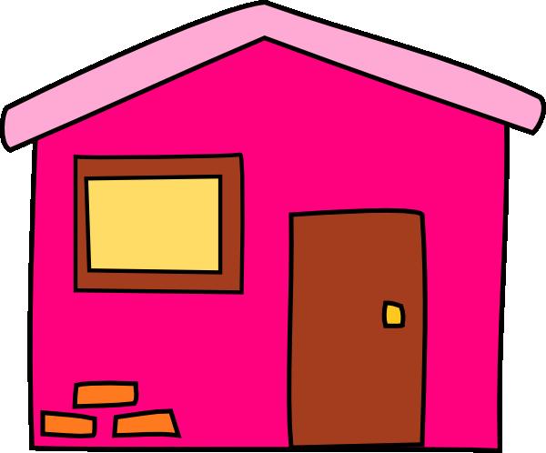 Pink House Clip Art at Clker.com - vector clip art online ...