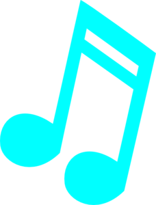 Blue 16th Note Clip Art