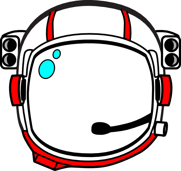 red astronaut helmet clip art at clker com vector clip art online
