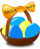 Easter Egg Basket Clip Art