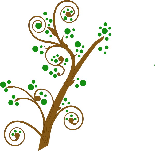 Brown And Green Tree Branch Clip Art at Clker.com - vector ...