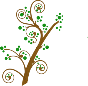 Brown And Green Tree Branch Clip Art