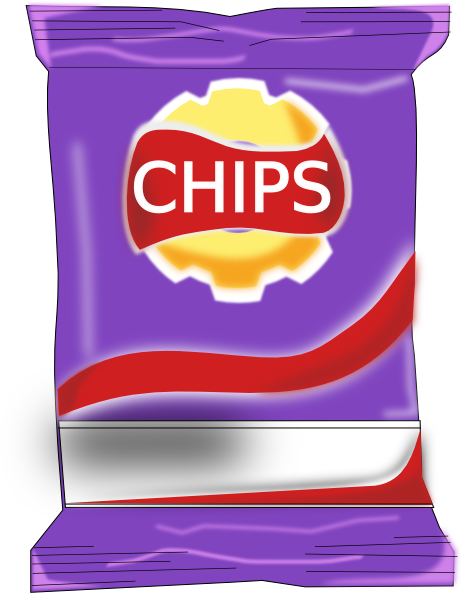 Chips Packet Clip Art at Clker.com - vector clip art ...