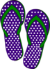 Purple And Green Flip Flops Clip Art
