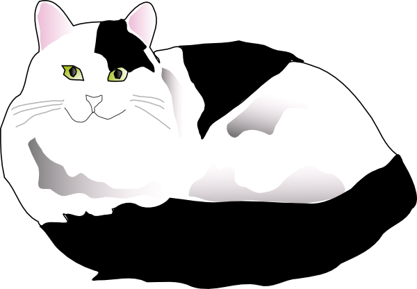 Black And White Cat Clip Art at Clker.com - vector clip ...
