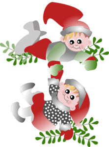 Christmas Elves Clip Art