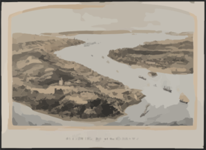 Panorama Of The Harbor Of New York, Staten Island And The Narrows Clip Art