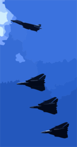 An F-14b  Tomcat  Assigned To The  Swordsmen  Of Fighter Squadron Three Two (vf-32) Breaks Formation While On Final Approach For An Arrested Landing Aboard. Clip Art