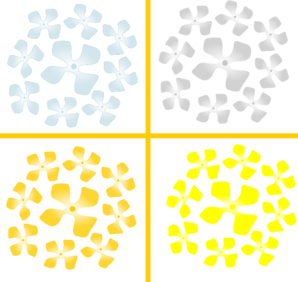 Cross Decoration Flowers Clip Art
