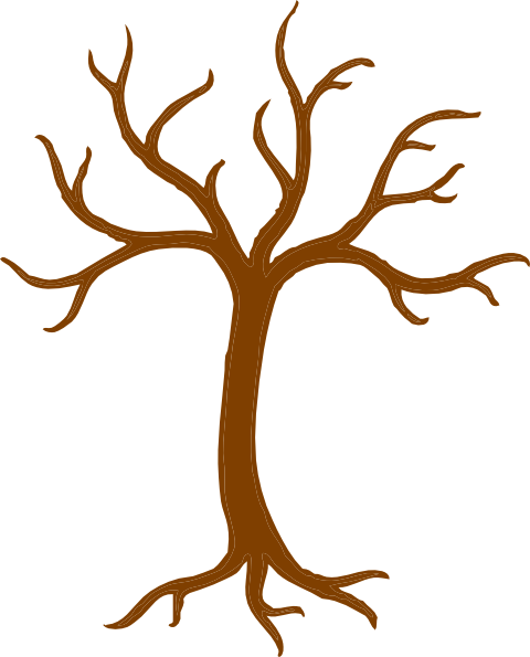 Bare Tree With Roots Clip Art at Clker.com - vector clip art online ...