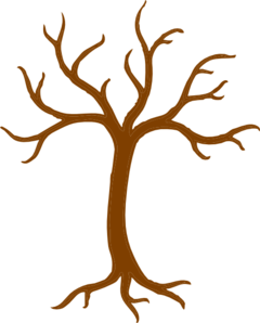 Bare Tree With Roots Clip Art