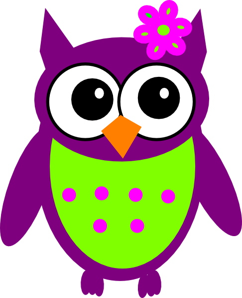 Purple Owl Clip Art at Clker.com - vector clip art online, royalty ...