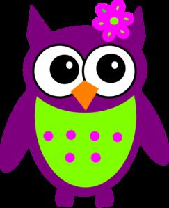 purple owl clip art at clker com vector clip art online royalty rh clker com