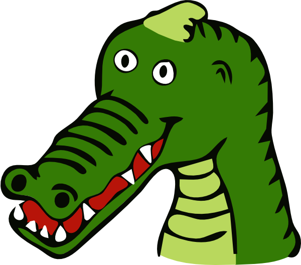Cartoon Gator Head http://www.clker.com/clipart-cartoon-crocodile.html