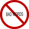 No Bad Words Clip Art