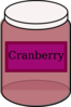Cranberry Food Jar Clip Art