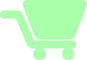 Shopping Cart Green Clip Art