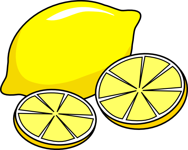 Clipart Lemon 1 on apple juice clip art