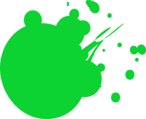 Green Dot Splat 2 Clip Art