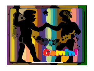 Gemini Of The Zodiac Clip Art